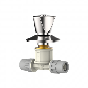chrome plated shut off valve