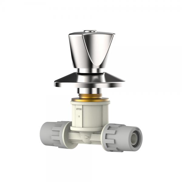 chrome plated shut off valve